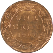 1902 Canada 1 Cent Choice Brilliant Uncirculated (MS-64)