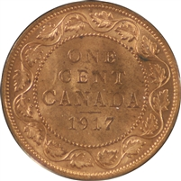 1917 Canada 1 Cent Choice Brilliant Uncirculated (MS-64)