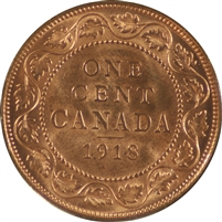1918 Canada 1 Cent Choice Brilliant Uncirculated (MS-64)