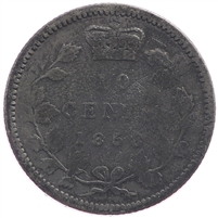 1858 Canada 10-cent Good (G-4)