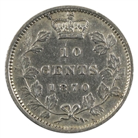 1870 Wide 0 Canada 10-cent VF-EF (VF-30) $