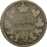1885 Obv. 4 Canada 10-cent Good (G-4) $