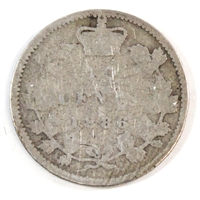 1886 Large Knobbed 6 Obv. 4 Canada 10-cent Good (G-4)