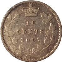 1887 Canada 10-cent VG-F (VG-10) $