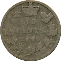 1888 Canada 10-cent About Good (AG-3)