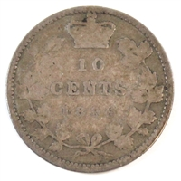 1896 Obv. 6 Canada 10-cent Good (G-4)