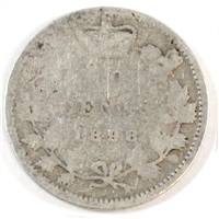 1898 Obv. 6 Canada 10-cent Good (G-4)
