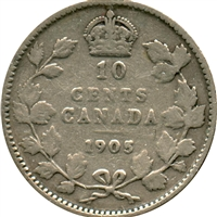 1905 Canada 10-cent G-VG (G-6)