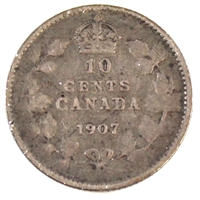1907 Canada 10-cent G-VG (G-6)