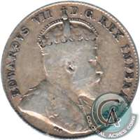 1909 Broad Leaves Canada 10-cent VG-F (VG-10)