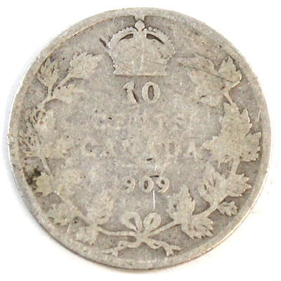 1909 Broad Leaves Canada 10-cent Filler