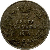 1910 Canada 10-cents G-VG (G-6)