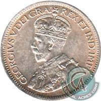 1916 Canada 10-cents Almost Uncirculated (AU-50) $