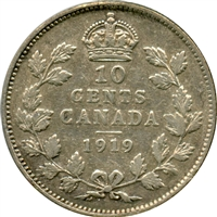 1919 Canada 10-cents Very Fine (VF-20)