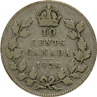 1928 Canada 10-cent G-VG (G-6)