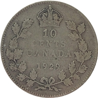 1929 Canada 10-cent Very Good (VG-8)