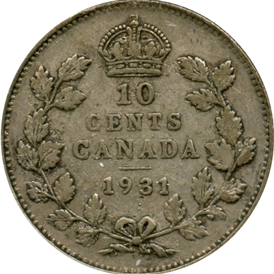 1931 Canada 10-cent Very Fine (VF-20)