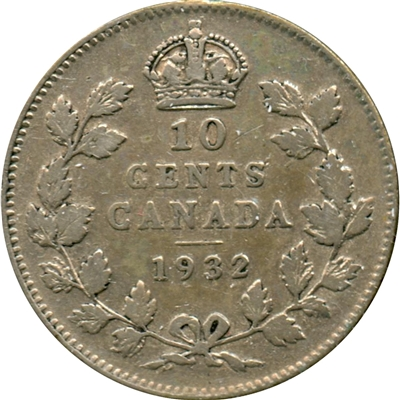 1932 Canada 10-cent Very Fine (VF-20)