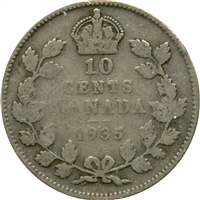 1935 Canada 10-cent Good (G-4)