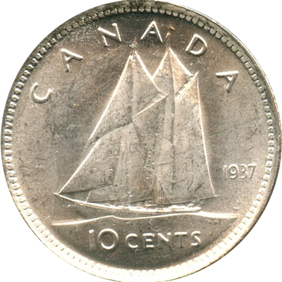 1937 Canada 10-cents Choice Brilliant Uncirculated (MS-64)