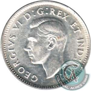 1947 Canada 10-cents Almost Uncirculated (AU-50)