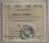 1950 Canada 10-cents ICCS Certified MS-64