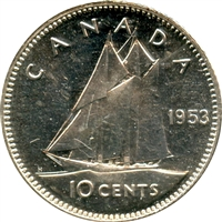 1953 NSS Canada 10-cents Brilliant Uncirculated (MS-63)