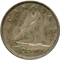 1953 NSS Canada 10-cents Circulated