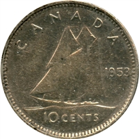 1953 SS Canada 10-cents Circulated