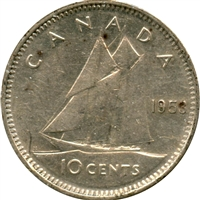 1953 SS Canada 10-cents Extra Fine (EF-40)