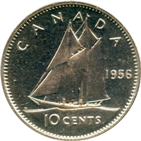 1956 Canada 10-cents Proof Like