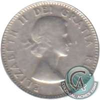 1956 Dot Canada 10-cents VG-F (VG-10)