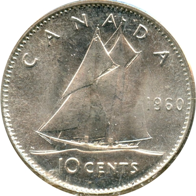 1960 Canada 10-cent Brilliant Uncirculated (MS-63)