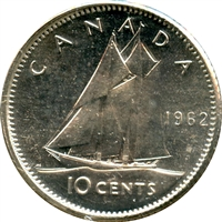 1962 Canada 10-cent Brilliant Uncirculated (MS-63)