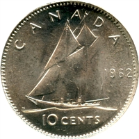 1962 Canada 10-cent Choice Brilliant Uncirculated (MS-64)
