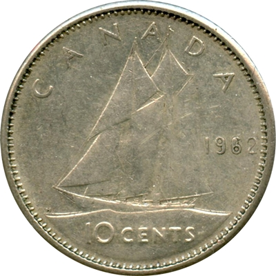 1962 Canada 10-cents Circulated