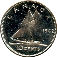 1962 Canada 10-cent Proof Like