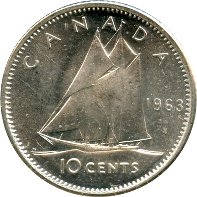 1963 Canada 10-cent Brilliant Uncirculated (MS-63)