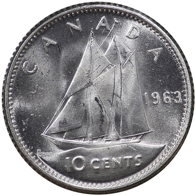 1963 Canada 10-cent Choice Brilliant Uncirculated (MS-64)