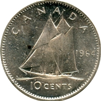1964 Canada 10-cent Brilliant Uncirculated (MS-63)