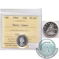 1966 Canada 10-cent ICCS Certified PL-65 Heavy Cameo