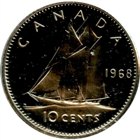 1968 Canada 10-cent Proof Like (Nickel Only)