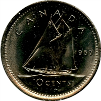 1969 Canada 10-cent Brilliant Uncirculated (MS-63)