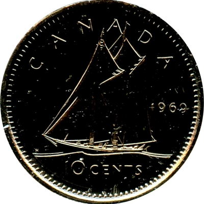 1969 Canada 10-cent Proof Like