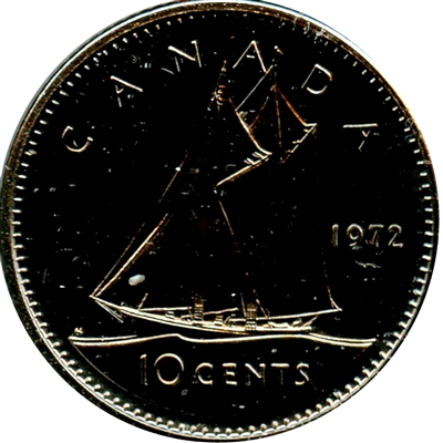 1972 Canada 10-cent Proof Like