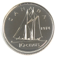 1974 Canada 10-cent Proof Like