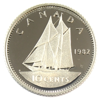 1982 Canada 10-cent Proof
