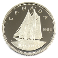1986 Canada 10-cent Proof
