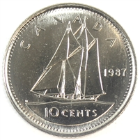 1987 Canada 10-cent Brilliant Uncirculated (MS-63)