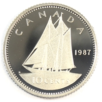 1987 Canada 10-cent Proof
